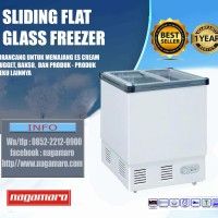 GEA SD-132-P Sliding Flat Glass Freezer Box Chest Freezer