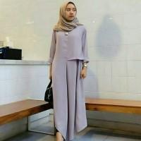 model baju muslim gamis terbaru dan modern LONG TUNIK VALENTIN