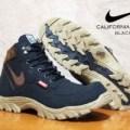 sepatu boots untuk pria nike california safety black list brown