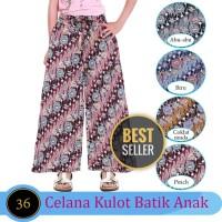 Celana Panjang Kulot Anak Bahan Katun Motif Batik Usia 6-10 tahun
