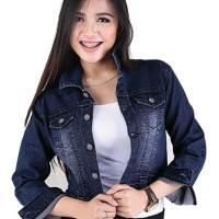 Jaket Denim Kasual Wanita jeans Biru Original Distro Catenzo BE 080