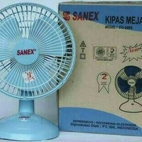 Kipas Angin Listrik Sanex Desk Fan Meja Duduk Kecil Kencang Sejuk 22W