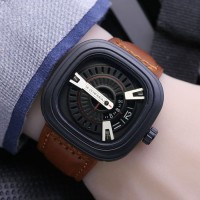 JAM TANGAN PRIA SEVENFRIDAY KULIT M2 BROWN COVER WHITE