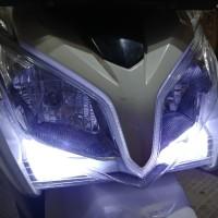 Lampu Senja Led Vario 125 Old Nmax Aerox Crystal Putih Terang 2 Pcs