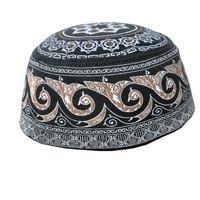 Peci Haji Motif warna Hitam Kopiah Haji Nyaman dan adem dipakai