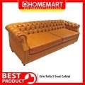 Sofa Minimalis Erin 2 Seat Coklat Vintage Unik-Khusus Jogja Jateng