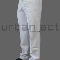 CELANA PANJANG BAHAN FORMAL PRIA SLIM FIT WARNA PUTIH URBAN ACT