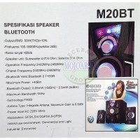 PROMO M20BT Stereo Bluetooth Aktif Speaker Advance Active FM