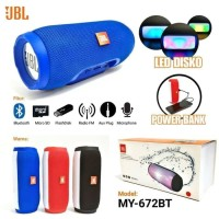 SPEAKER AKTIF PORTABLE BLUETOOTH JBL MY 672BT + POWER BANK + LAMPU