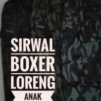 Cuci Gudang Celana Sirwal Boxer Loreng Anak