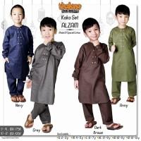 Baju Setelan Koko Anak Set Celana Lengan Panjang Katun Polos size S-XL