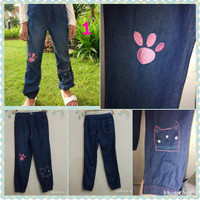 Celana anak perempuan jeans branded Nevada Jeans jogger usia 9-10 thn