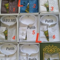 Termurah TNK Baju Koko Kemeja Koko Atlas Lengan manset kancing