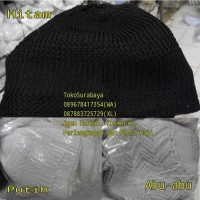 Peci Rajut Haji Murah Kodian Warna Putih Hitam Abu Abu  Songkok Kopyah