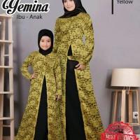 DJS0076 Baju Couple Ibu Anak / Busana Muslim Pasangan Copel Novie