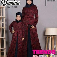DJS0075 Baju Couple Ibu Anak / Busana Muslim Pasangan Copel Novie