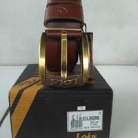 Ikat pinggang-gesper-sabuk kulit asli lois branded original