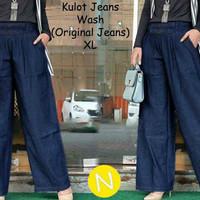 Celana panjang jeans kulot denim wanita xl jumbo bigsize big size