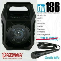Speaker Aktif Portable Bluetooth Radio Dazumba DW186 +Mic dw 186#DE013