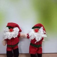 Hiasan Boneka Santa Set 2-Gantungan Boneka Natal Pajangan Santaps 7789fb4a30