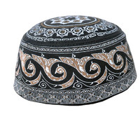 Kopiah Peci haji bermotif warna Hitam Nyaman dipakai