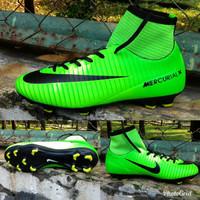 Sepatu bola nike mercurial warna hijau stabilo