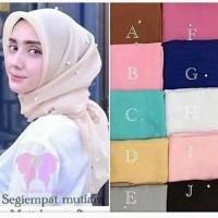 Hijab segiempat/Jilbab/kerudung mutiara rawis PROMO