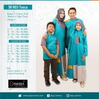Couple baju muslim sarimbit keluarga SRG.D03 Anak biru Silmi Fashion