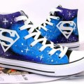 Sepatu lukis high converse galaxy superman