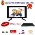 Polysonic Led Tv 19 Inch Ps 1892 Wide Free Dvd Asatron