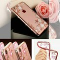 Case List Permata Motif Bunga Fashion Rose Gold & Gold Oppo A57