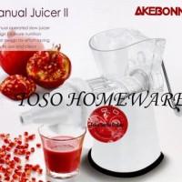 New Akebonno Manual Slow Juicer II KS-0199Z Easy Juicer
