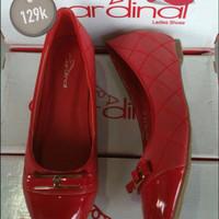 sepatu brand matahari /cardinal/flat shoes wanita remaja mewah merah