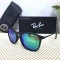 Kacamata Rayban Chris Black Doff Blue Green Tosca Lens Polariz Diskon