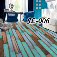 SL STICKER LANTAI TEGEL WALLPAPER ROLL FLOORING PARQUET STICKER