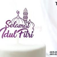 Jual Ti 0040 E Cake Topper Hiasan Kue Tulisan Selamat Idul Fitri