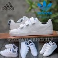 Sepatu Adidas Neo Advantec / Advantage Velcro White Navy Original New