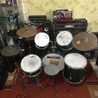 BILLY MUSIK - Drum Set Maxtone Pro Series with Double Pedal - Cymbal