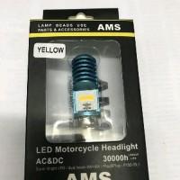 Lampu Sorot Depan LED Philips AMS 2 sisi H6 Motor Sport bebek Matic
