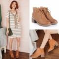 Winter Ankle Heels Boots Boot Cewek Wanita Korea Import Sepatu Kulit