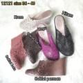 Jelly shoes bara bara sepatu wanita wedges karet import 12121