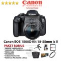 CANON EOS 1500D KIT 18-55MM IS II PAKET BONUS - KAMERA DSLR ORIGINAL