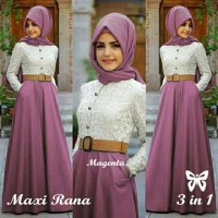 Rana Hijab Magenta Busana Muslim Pesta Wanita Gamis Pesta terbaru