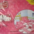 SPREI LADY ROSE 2 IN 1 HELLO KITTY DANIEL PINK SINGLE 120 No 3 SEPRA