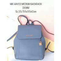 TAS RANSEL MICHAEL KORS BACKPACK HAYES MEDIUM DENIM