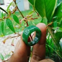 Cincin Ring Giok Hijau Model Petak