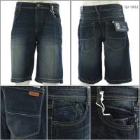 Celana Jeans Pendek Cowok Biru Tua Tripl3 29-36 [043001952]