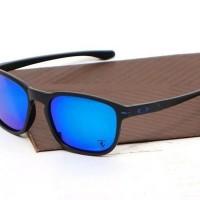 kacamata oakley enduro black blue [Promo]
