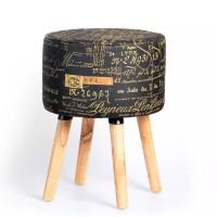 Kursi Kayu Stool Bulat Super Chic Minimalis Untuk Dekorasi Sofa Kamar