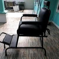 kursi pangkas rambut kursi cukur bahan rangka besi kursi barber